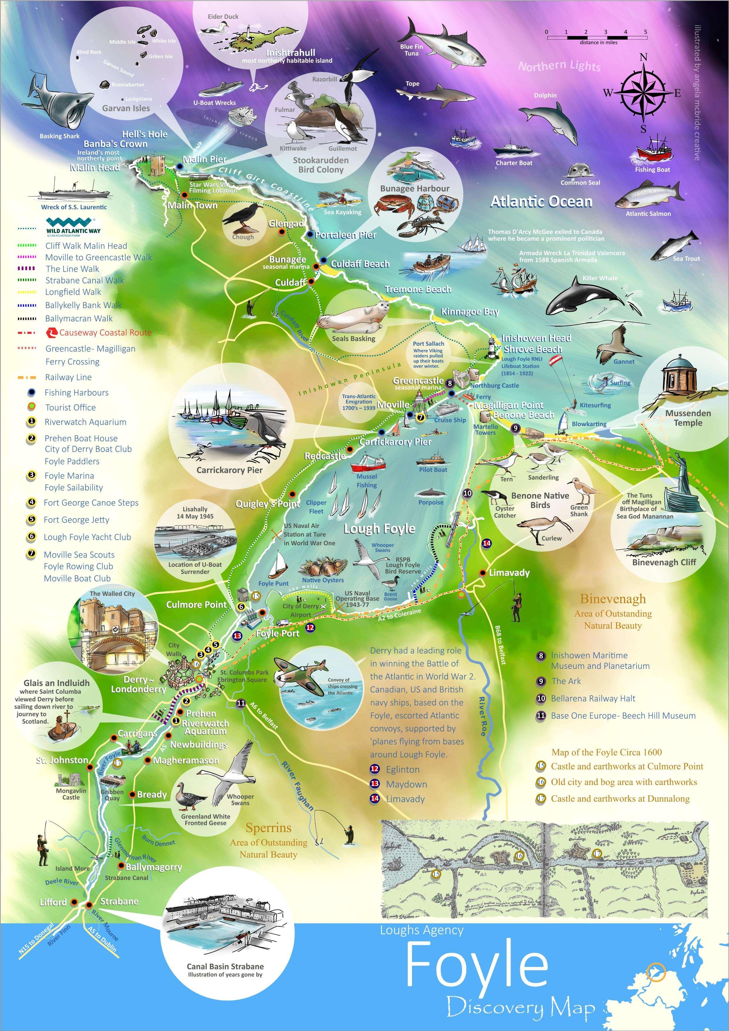 Marine Tourism map of Foyle area