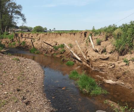 Aghlisk River with severe erosion