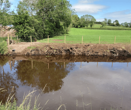 Quiggery River after restoration works
